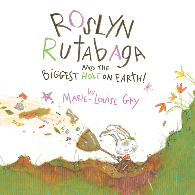 Marie-Louise Gay has written and illustrated this humorous and endearing tale as an ode to the imagination and determination of children, who create their own worlds out of the little things in life.