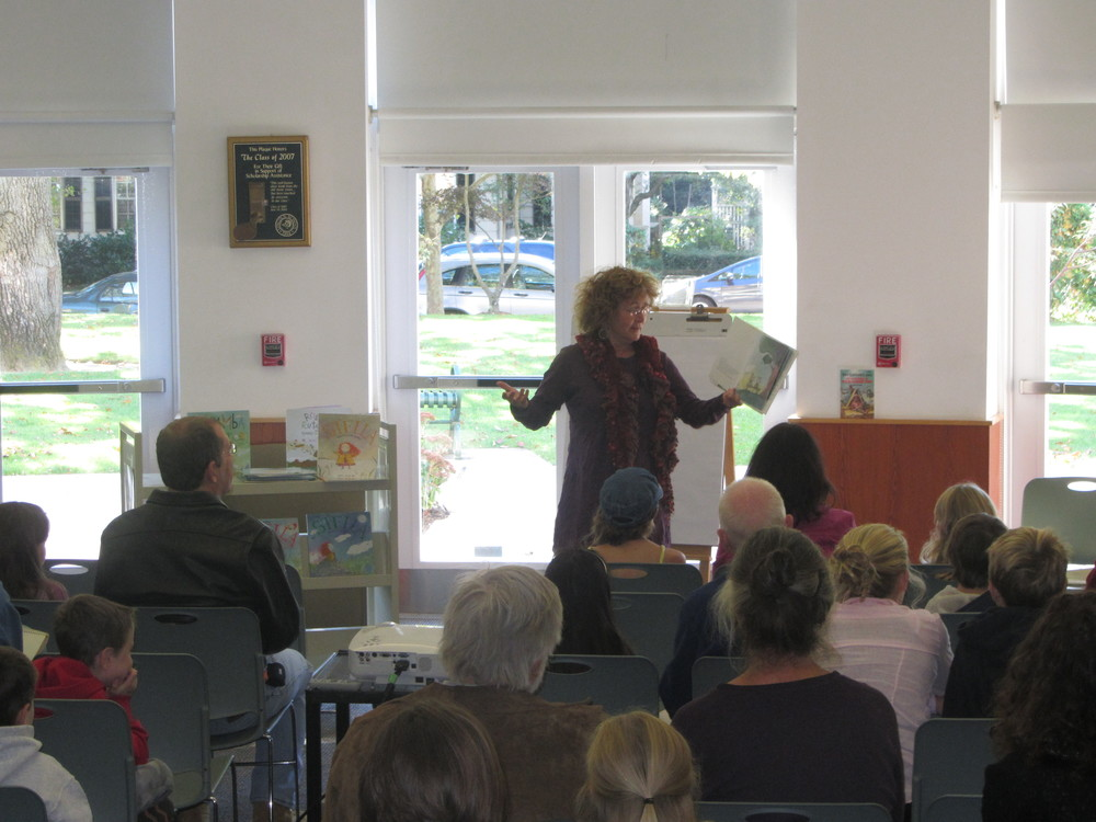 Marie-Louise Gay reading at the Rhode Island Festival of Children's Books and Authors