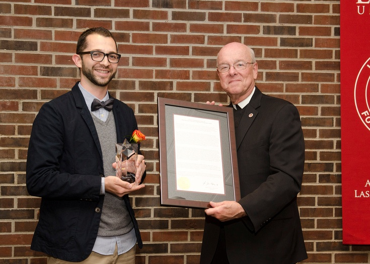 With Br. James Gaffney, FSC – President of Lewis University