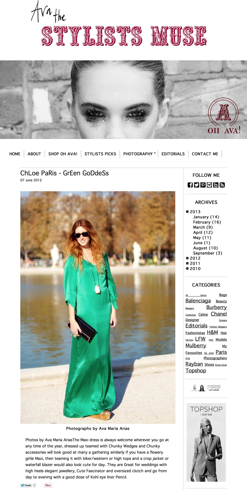 stylists muse- pfw march 2012