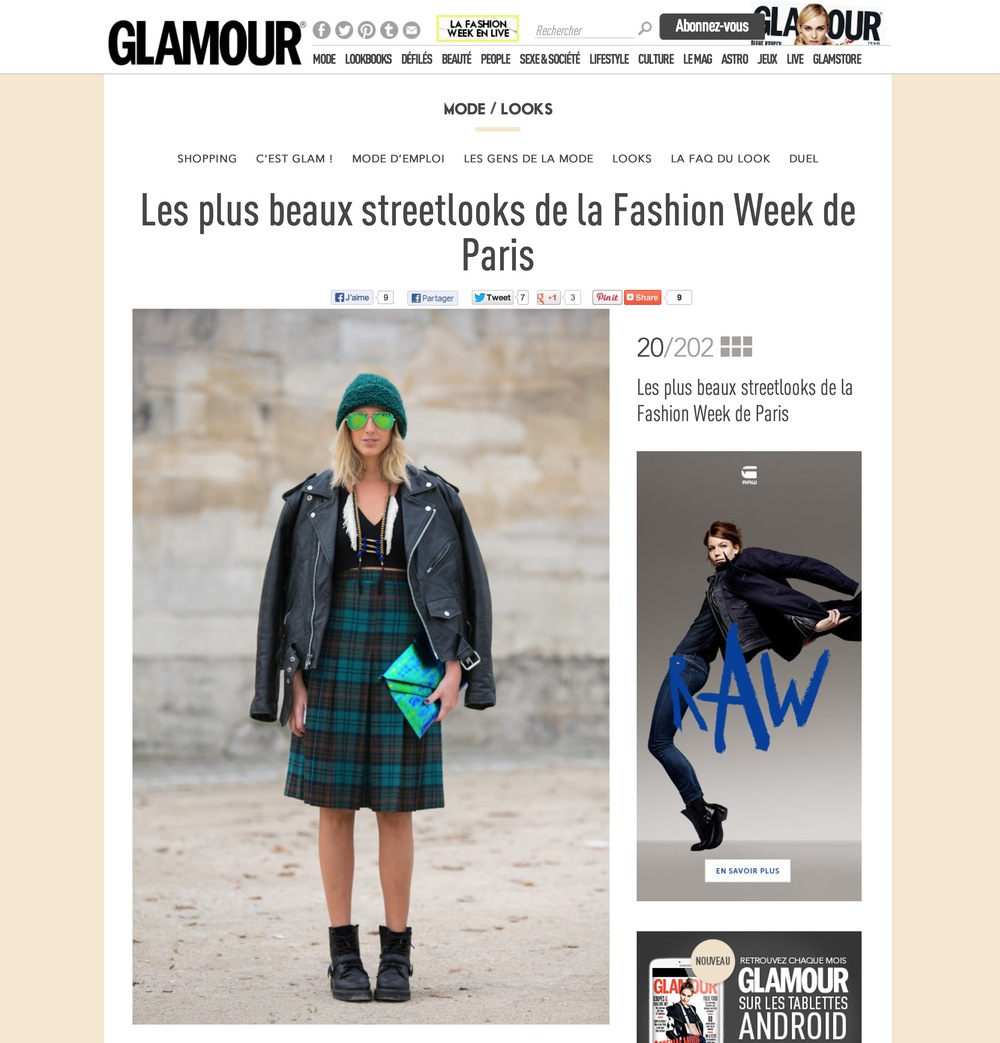 Glamour Paris     Paris fashion week- Sept 2013