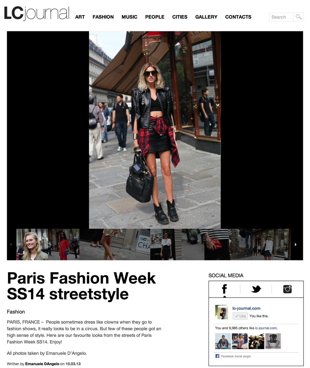 LivinCool Paris fashion week- Sept 2013