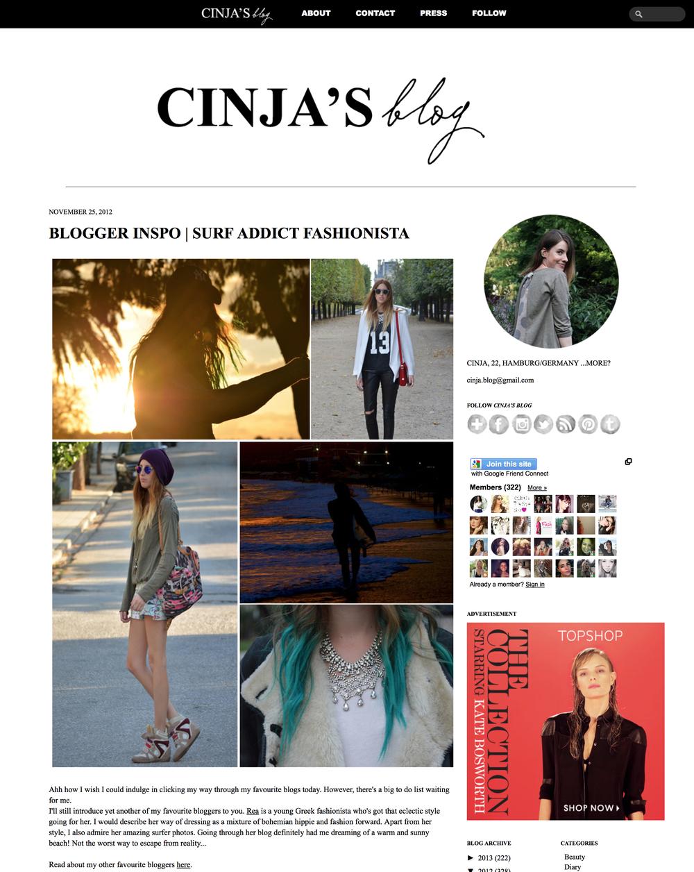 Cinja's blog   November 2012