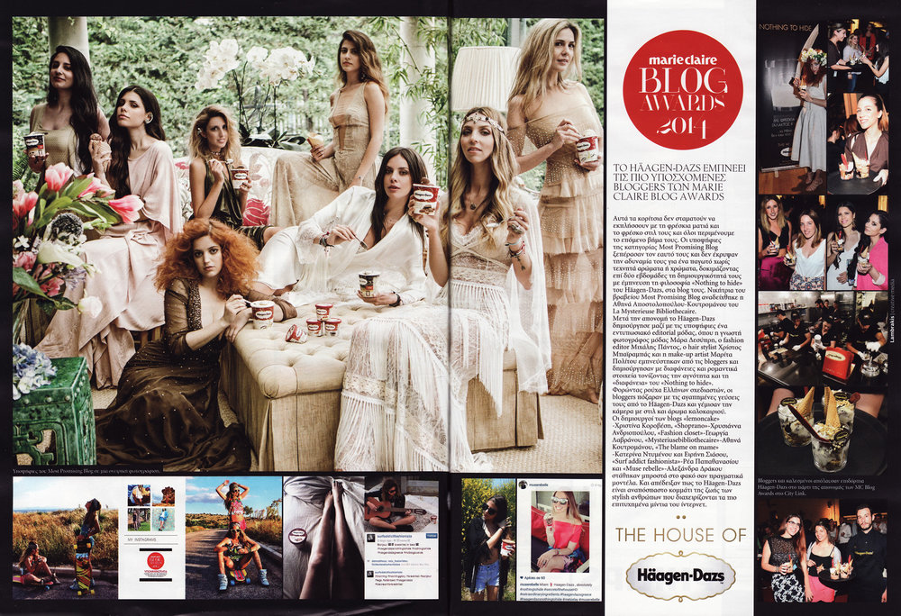 The House of Häagen Dazs- Marie Claire magazine August 2014