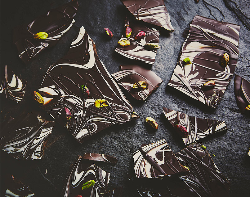 Dark Chocolate Pistachio Bark
