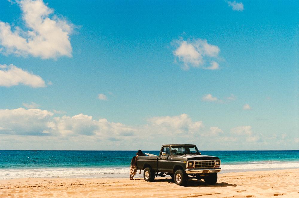 Kekaha Beach. Olympus OM-1 50mm. Kodak Portra 400