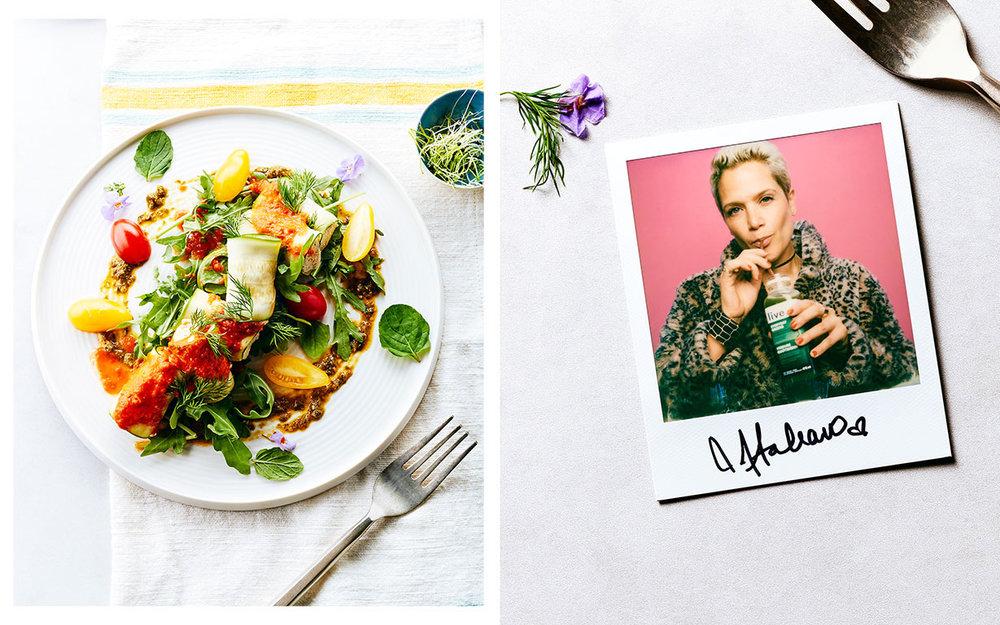 Zucchini Manicotti with Cashew-Dill Ricotta