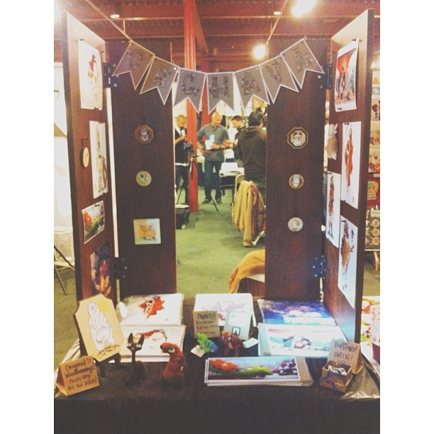 @APExpo day 2! Stop by and say hey! #ape2013 #art #illustration #sf #sanfrancisco #craft