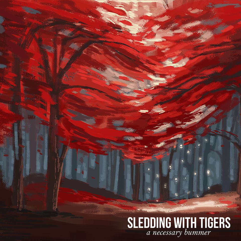 my painting is now an album cover for  Sledding With Tigers ! yay!