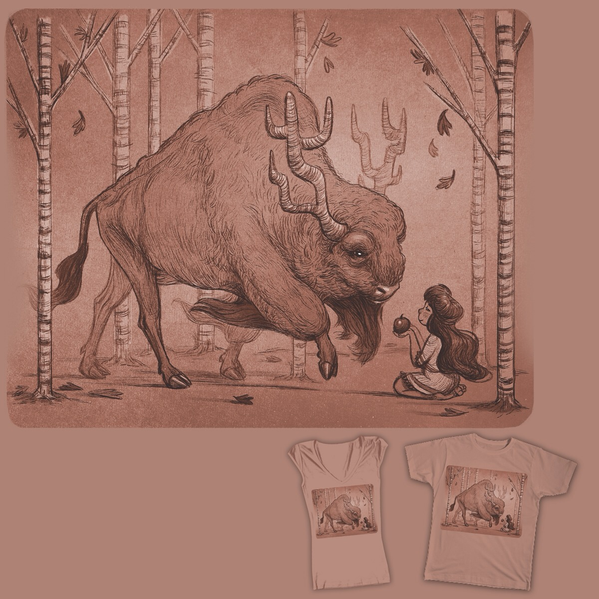 Hey guys! I have a design up on Threadless.com for a contest! I'll be forever grateful if you go vote it a 5! Then you can get it as a tshirt!! Thanks so much! http://www.threadless.com/monochromatic/the-gift-10/