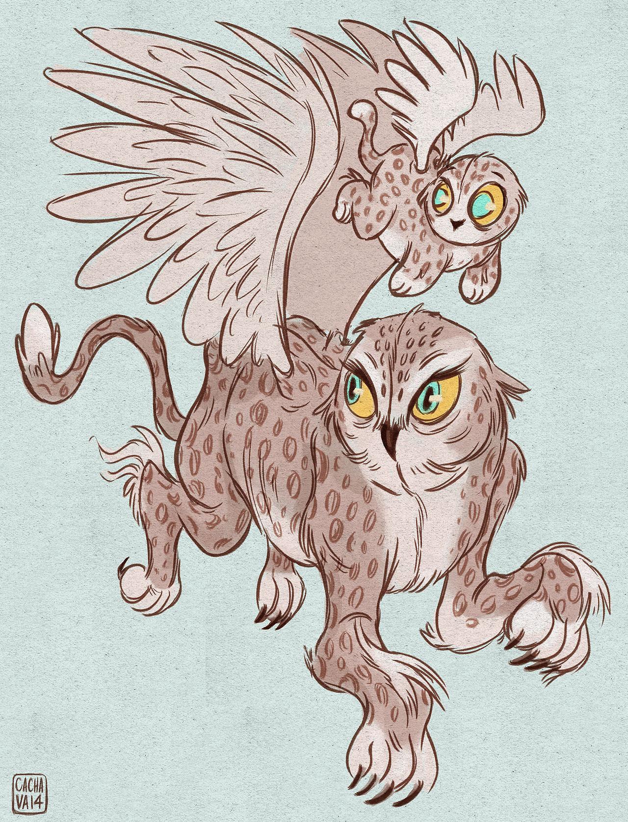catching up today! here's a mom and baby griffin for Sketch Dailies!
