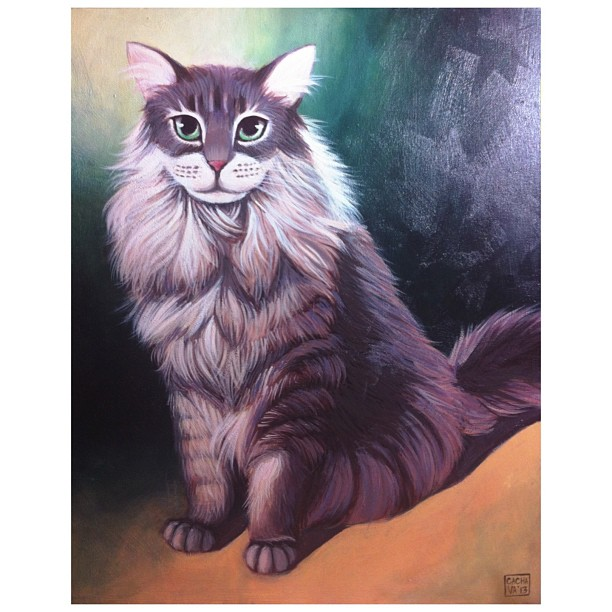 Just finished this #painting #commission for someone back in #sf! #acrylic #paint #draw #art #artwork #cats #cute #portrait #fur #petlove #animals #canvas #freelance #whatamidoingwithmylife