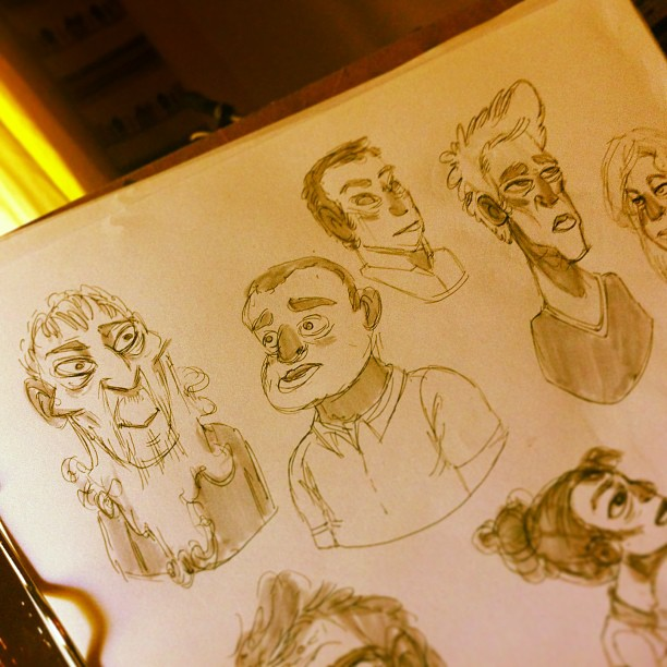 Sketchin' some faces… #sketch #sketching #sketchbook #doodle #face #draw #drawing #illustration #art #pen #character #characterdesign #design #portland #pdx
