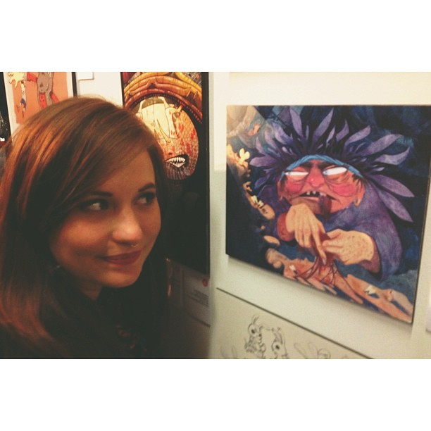 Me and one of my pieces at the 2013 spring show! #springshow #springshow2013 #aau #art #artwork #exciting #overwhelming #hashtaghashtag