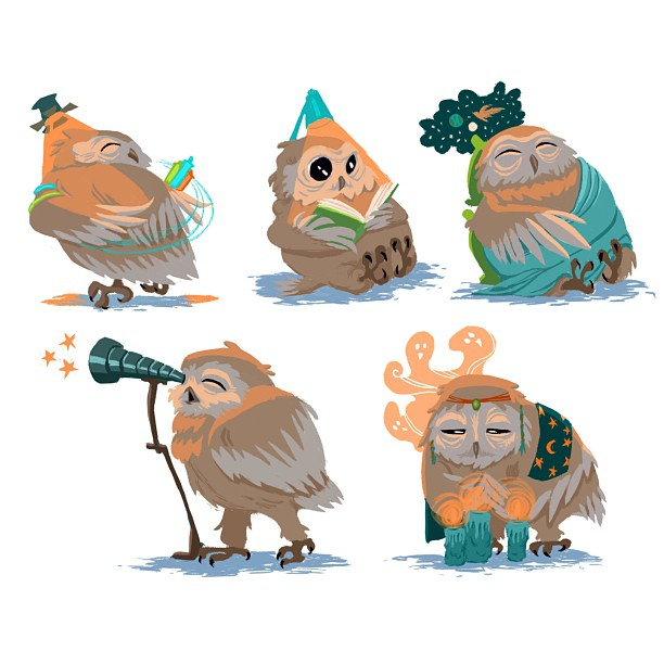 Working up my baby owl designs… #nightowls #nightowl #owl #draw #drawing #illustration #illustrate #digital #digitalpainting #painting #art #artwork #artoftheday #color #design #designs #character #characterdesign #characters #cute #instaart #instaartist #somanyhashtags