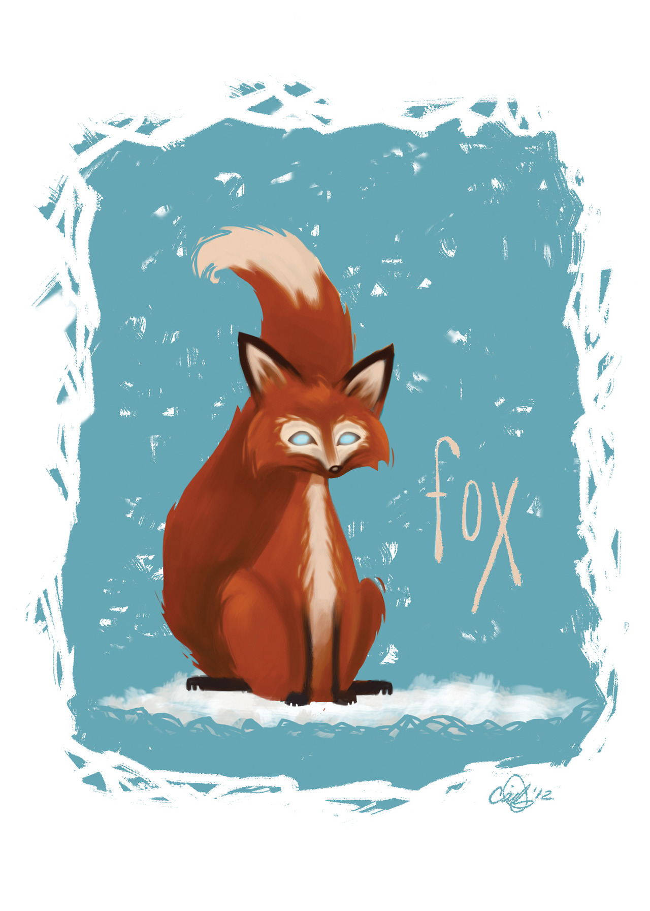 hello tumblr! a little fox i drew.
