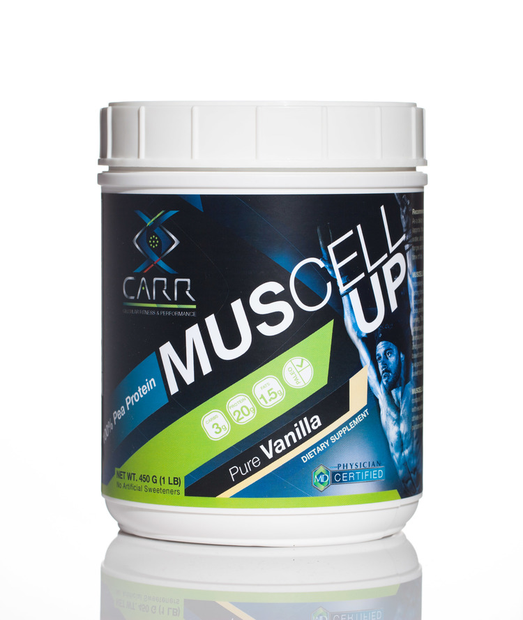 MUSCELL UP 100% all natural protein contains  non-GMO ingredients with excellent bioavailability