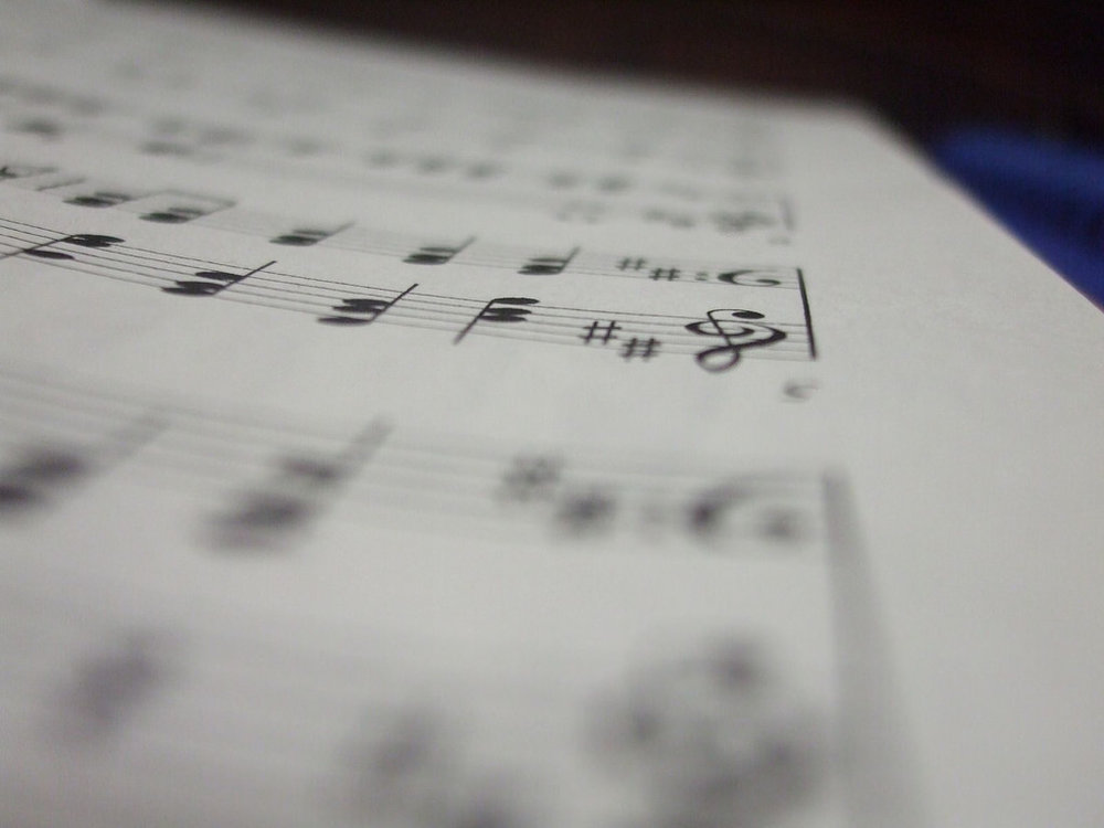 Sheet music by Jon Bragg, Attribution-ShareAlike 2.0 Generic