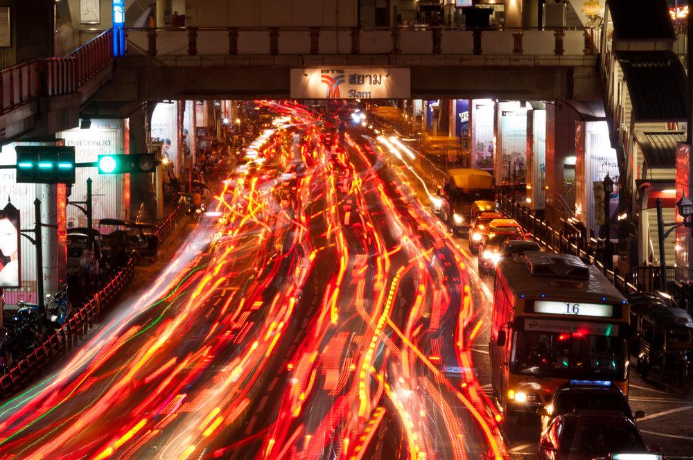 Bangkok Traffic by Mark Fischer, Attribution Sharealike 2.0 Generic
