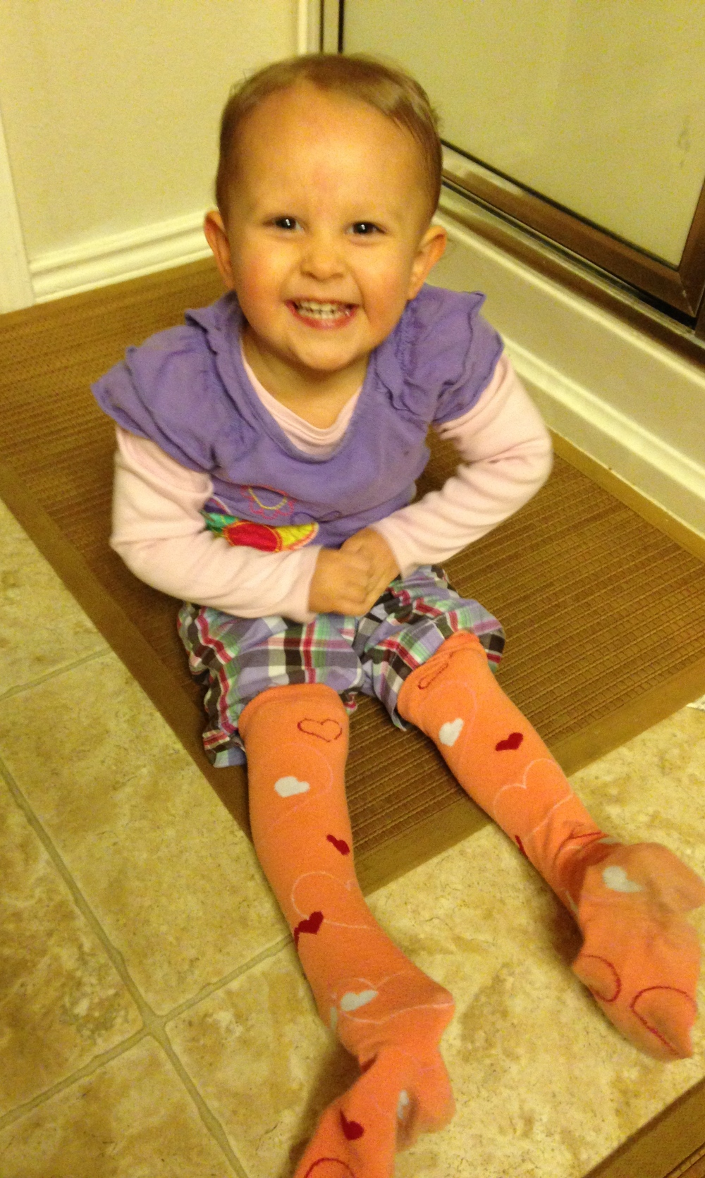 Wednesday - Apparently K thought my socks were community property.