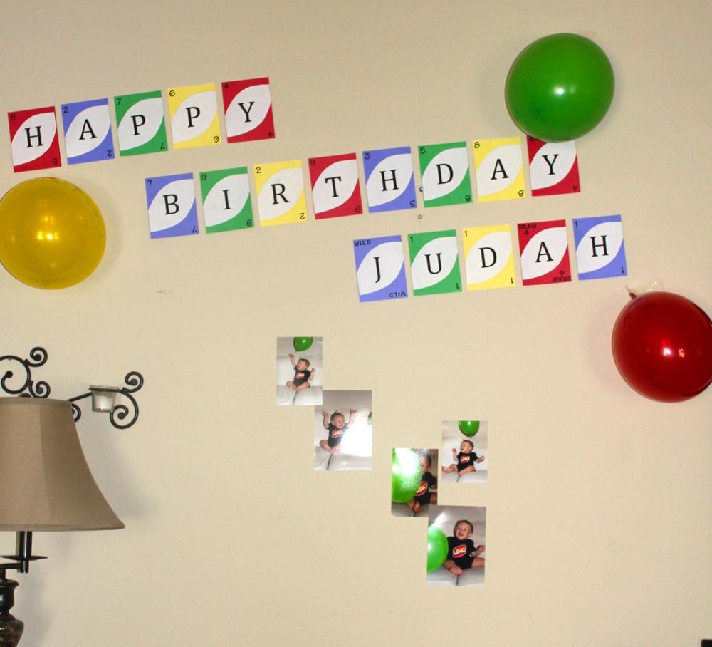 "A Handmade ""Uno"" Card Birthday Banner!"