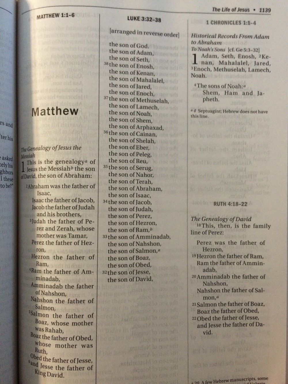 Example picture from the genealogy of Jesus