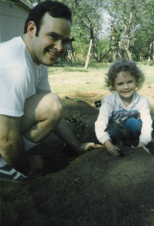 Planting with my Dad...many years ago!