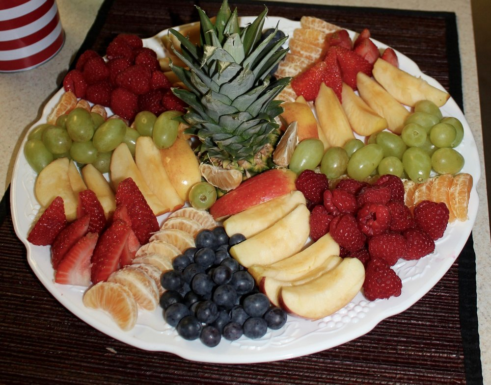 Fresh fruit platter made for a New Year's Eve party last year.