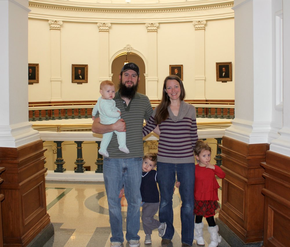 The five of us last year visiting the Texas State Capital.
