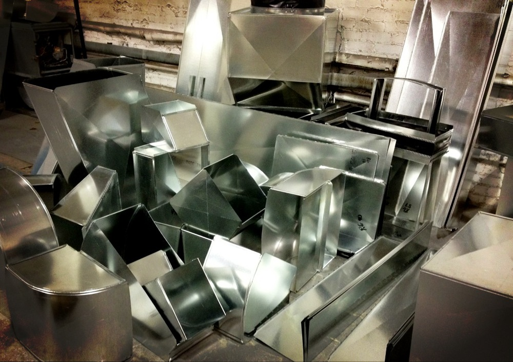 Pile of custom ductwork