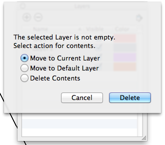 Delete layers options