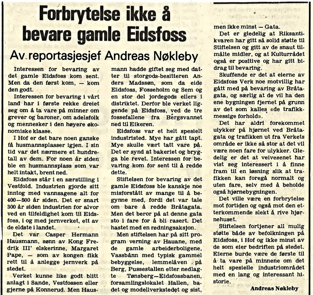 Vestfold Arbeiderblad 1979