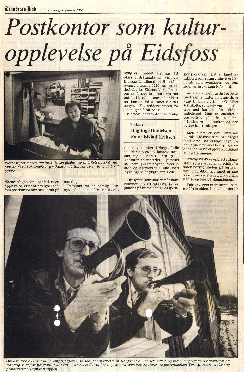 Tønsbergs Blad 5. januar 1984