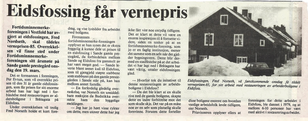 Vestfold Arbeiderblad 1985