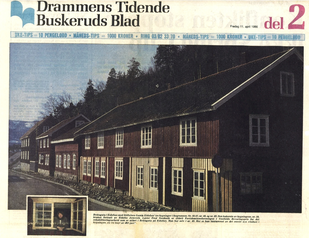 Drammens Tidende 11. april 1986