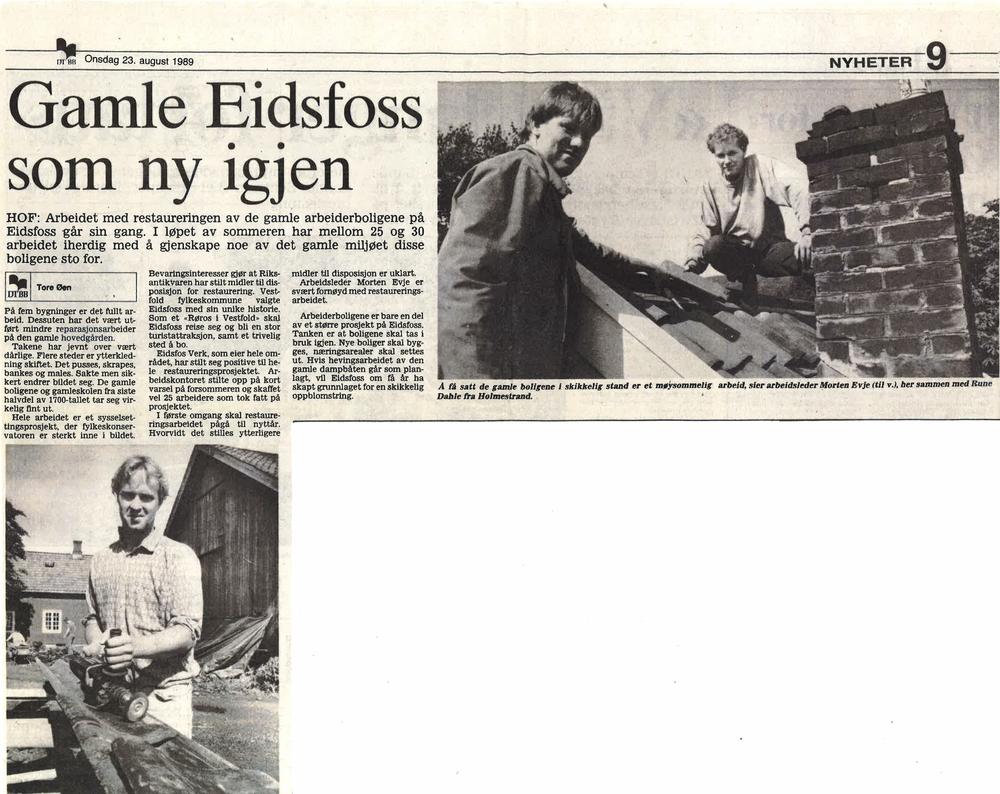 Drammens Tidende 23. august 1989