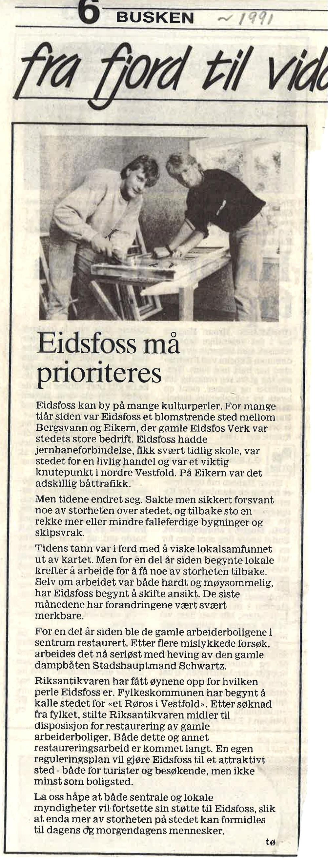 Drammens Tidende 1991