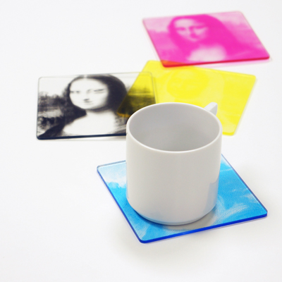 CMYK Color Print Coaster - new