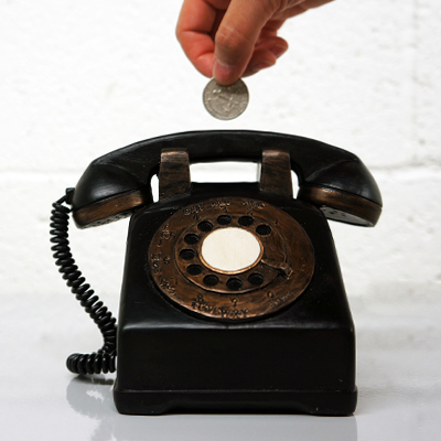 Retro Coin Bank (Dial Phone) - new