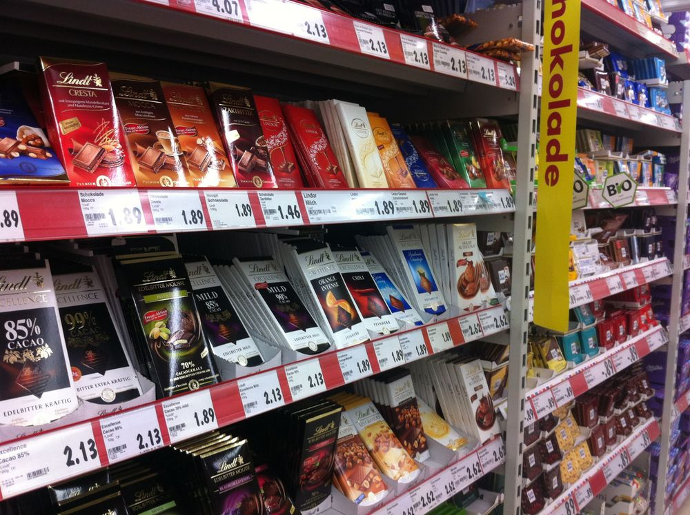There is a ridiculous amount of chocolate offered - several aisles.