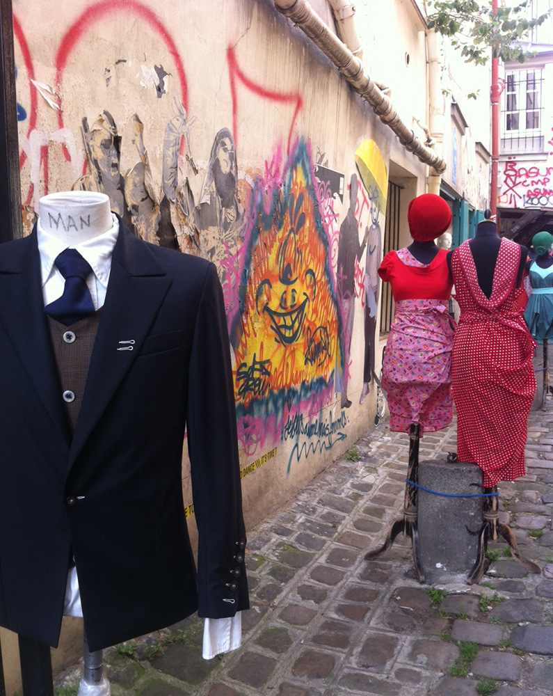 Fashion on Display near Le Marais