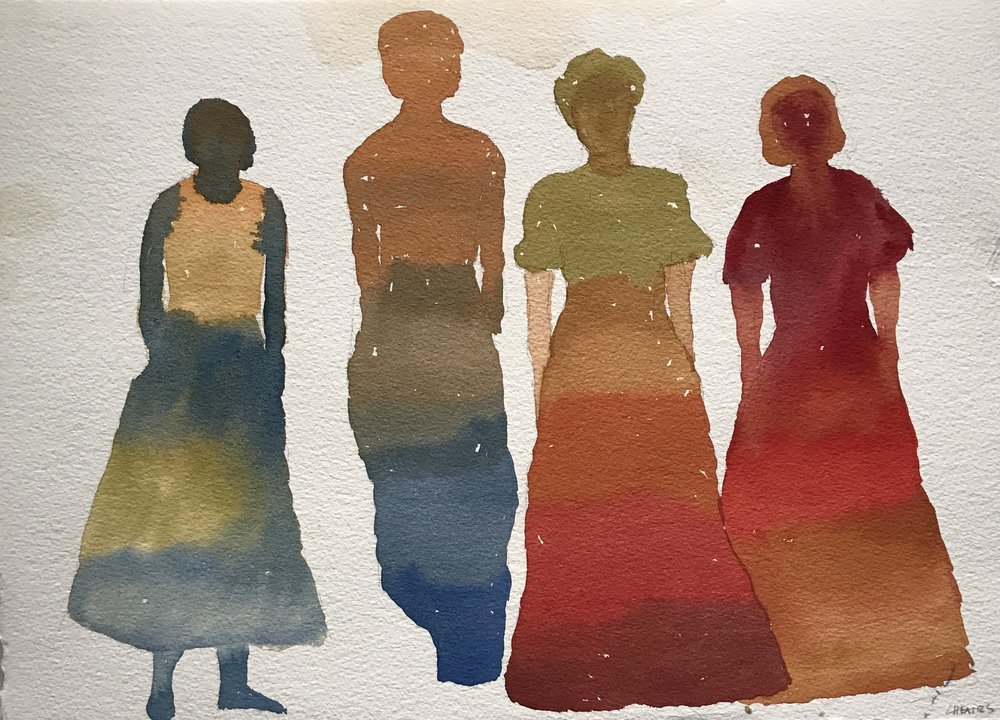 The Ladies | Watercolor on Paper | 11 x 15 in. | 2017 | Price upon Request