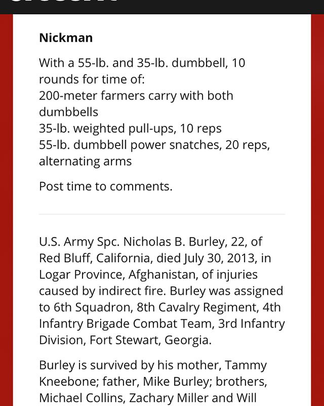 This gym will never forget you or those like you Burley. . . This workout hits the heart and hits it hard. Burley and Coach Justin belonged to the same unit at the time and shared the same assignment in support of OEF. Thank you to all the CFV members that put effort in on this one today. . . Shoutout to coach @jason_m_peterson for going all the way on this one today! Incredible effort. . #cfvsupportsthetroopsandhonorsthefallen #incrediblecommunity #veteranownedbusiness