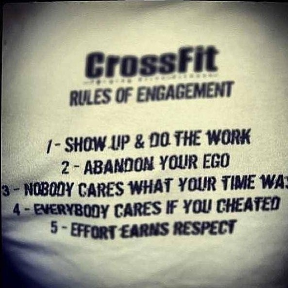 @crossfit has it right. . . Rules to train and live by. . . #cfv #crossfitvisalia #centerofexcellence