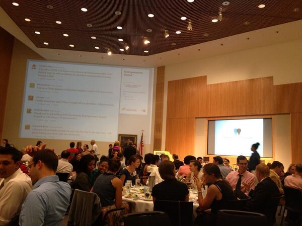 Entrepreneurs United attendees in the Town Square room at the Kauffman Foundation. Image credit: @stephparra08