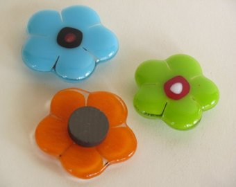 Glass Flower Magnets - Create two colorful flower magnets in this workshop using warm glass techniques. **kids ages 8 and under MUST be accompanied by an adult**