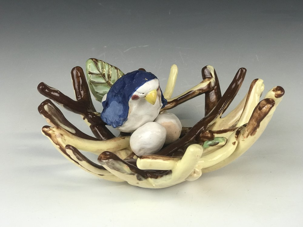 Bird in a Nest - Think Spring! Make your favorite bird from clay (and paint it) while also creating a cozy nest for it to sit in with some eggs!**kids ages 8 and under MUST be accompanied by an adult**