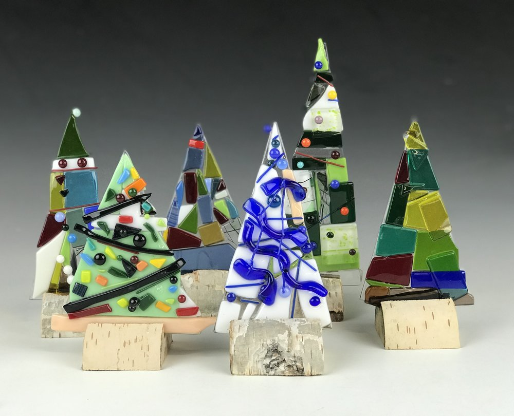 Glass Trees - Create beautiful trees from glass to decorate your home for the holidays. Everyone will create two trees.