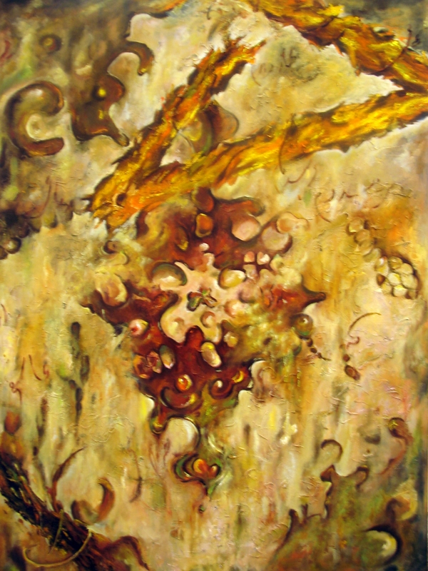 Persian Rug, oil on canvas,2006,72'' x54''
