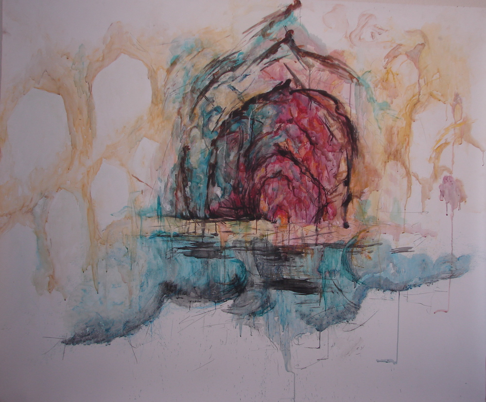 """From my Memory, watermix media, 60""""x72"""", spring 2011"""